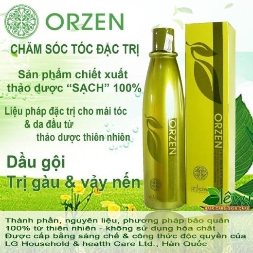 Dầu Gội Trị Gàu Orzen 100% Từ Thiên Nhiên